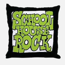 3-schoolhouserock_green Throw Pillow