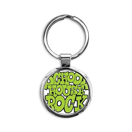 3-schoolhouserock_green Round Keychain