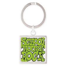 3-schoolhouserock_green Square Keychain