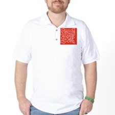 2-SHR_REVERSE_red_rect_sticker Golf Shirt