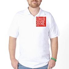 2-SHR_REVERSE_red_rect_sticker T-Shirt