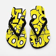 3-schoolhouserock_yellow Flip Flops