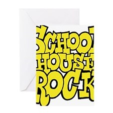 3-schoolhouserock_yellow Greeting Card