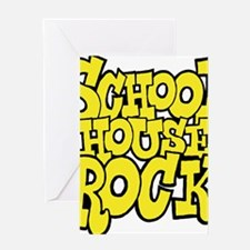 3-schoolhouserock_yellow Greeting Card