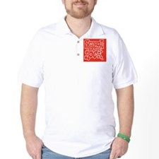 2-SHR_REVERSE_red_oval_sticker Golf Shirt
