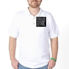 2-SHR_REVERSE_black_oval_sticker Golf Shirt