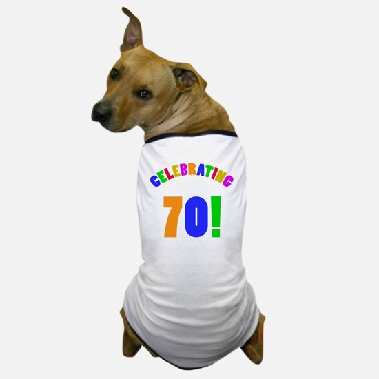 Rainbow 70 Dog T-Shirt