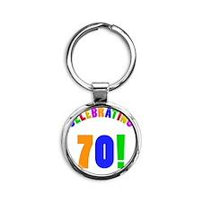 Rainbow 70 Round Keychain