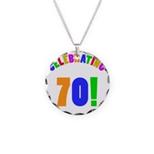 Rainbow 70 Necklace Circle Charm