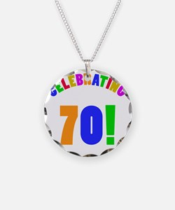 Rainbow 70 Necklace Circle Charm