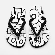 3-schoolhouserock_BW Flip Flops