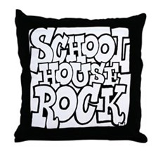 3-schoolhouserock_BW Throw Pillow