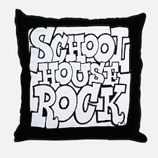 3-schoolhouserock_BW Throw Pillow