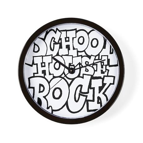 3-schoolhouserock_BW Wall Clock