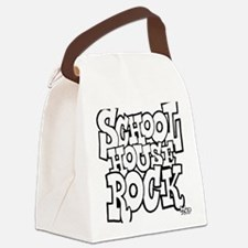 3-schoolhouserock_BW Canvas Lunch Bag