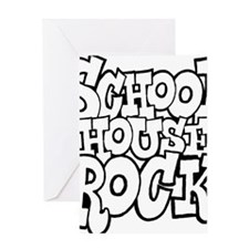 3-schoolhouserock_BW Greeting Card