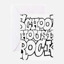 3-schoolhouserock_BW Greeting Card