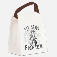 My Son Is A Fighter Grey Canvas Lunch Bag
