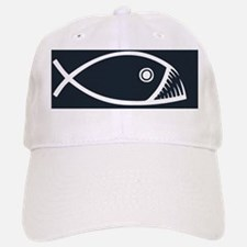 fish-fangs-OV Baseball Baseball Cap