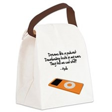 Dreams Like a Podcast Canvas Lunch Bag