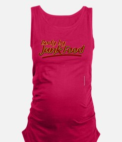 Body By Junk Food funny fatboy  Maternity Tank Top
