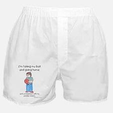 Taking Ball Home White Copyright Boxer Shorts
