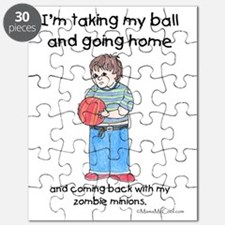 Taking Ball Home White Copyright Puzzle