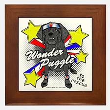 Wonder Puggle Framed Tile
