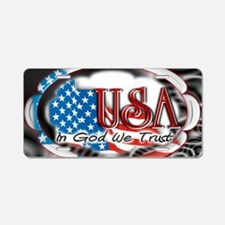 usa in God we trust 002 Aluminum License Plate