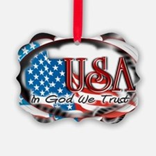 usa in God we trust 002 Ornament
