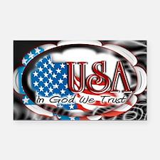 usa in God we trust 002 Rectangle Car Magnet
