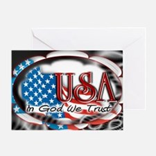 usa in God we trust 002 Greeting Card
