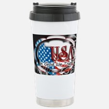 usa in God we trust 002 Stainless Steel Travel Mug