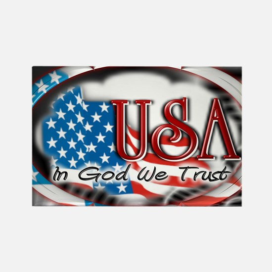 usa in God we trust 002 Rectangle Magnet