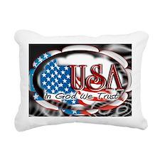 usa in God we trust 002 Rectangular Canvas Pillow