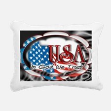 usa in God we trust 002 Rectangular Canvas Pillow