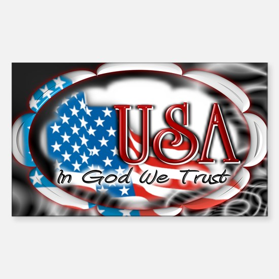 usa in God we trust 002 Sticker (Rectangle)