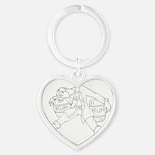 drunkwhite Heart Keychain