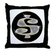 Bling $ Throw Pillow