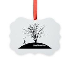 The Runner Running T-shirt Design Ornament