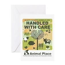 Animal_Place_StickerLARGE Greeting Card