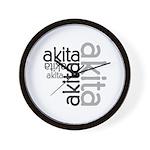 Akita Multi Wall Clock