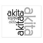 Akita Multi Small Poster