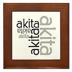 Akita Multi Framed Tile