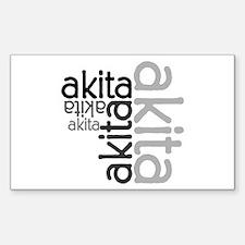 Akita Multi Rectangle Decal