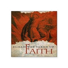 "Mousepad_ByFaith_Elijah(aut Square Sticker 3"" x 3"""