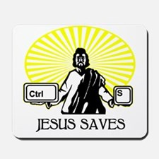 2-JesusSaves_lites Mousepad