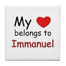 My heart belongs to immanuel Tile Coaster