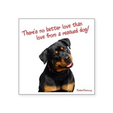 """theres_no_better_love_red-w Square Sticker 3"""" x 3"""""""