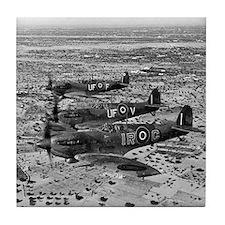 Spitfire Fighters Over Africa, 1943 Tile Coaster